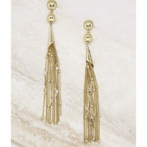 Ettika Chain Drop Tassel Earrings